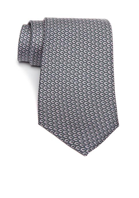 Michael Kors Multi Color Hexagon Geometric Print Necktie