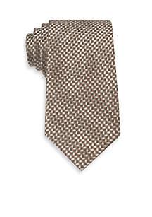 Linked Hexagon Neat Tie