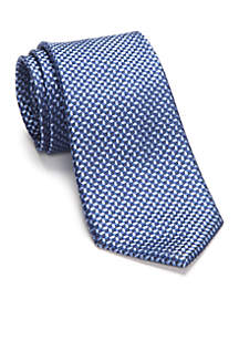 Linked Hexagon Neat Tie