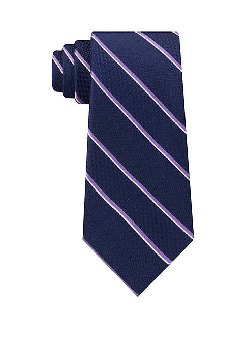 Michael Kors Multi Weave Satin Stripe Tie