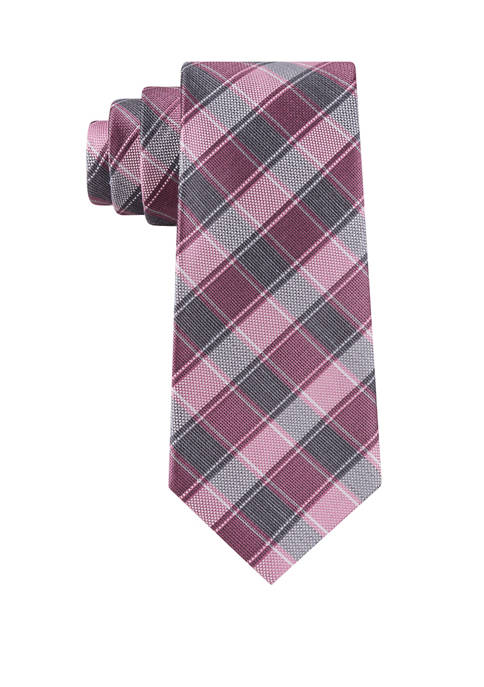 Michael Kors Thin Double Track Check Necktie