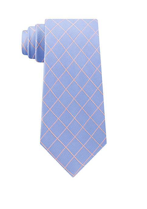 Michael Kors Simplistic Thin Line Check Tie