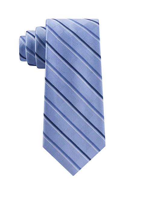 MICHAEL Michael Kors Asymmetrical Textured Ground Stripe Tie