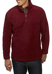 Big & Tall Quarter Zip Fleece Jacket