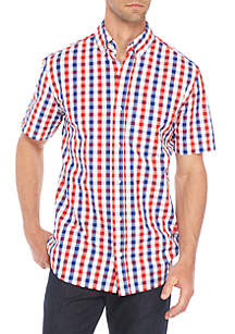 Short Sleeve Classic Fit Seersucker Shirt