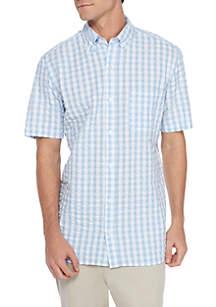 Short Sleeve Classic Fit Seersucker Shirt