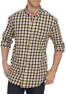 Long Sleeve Comfort Flex Stretch Classic Fit Twill Shirt