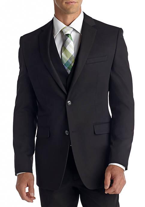 Perry Ellis® Slim Fit Black Textured Suit Separate