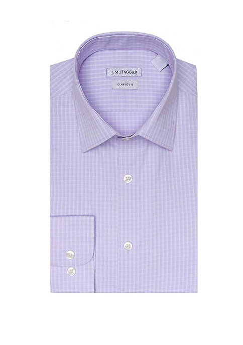 Mens Classic Fit Performance Dress Shirt