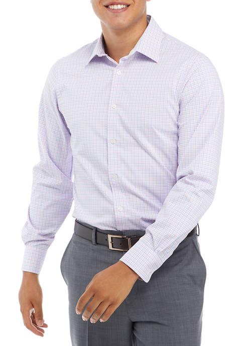 J. M. HAGGAR™ Mens Medium Pink Check Dress