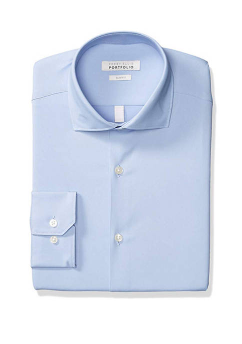 Mens Slim Fit Performance Dress Shirt