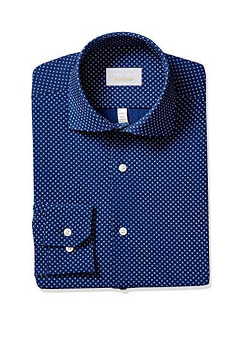 Perry Ellis® Mens Slim Fit Performance Dress Shirt