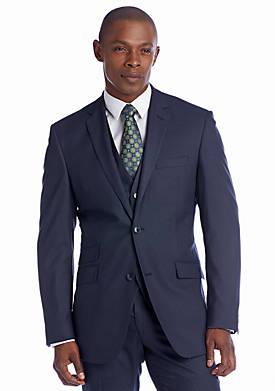 Classic Fit Grey Sharkskin Suit Separate Coat