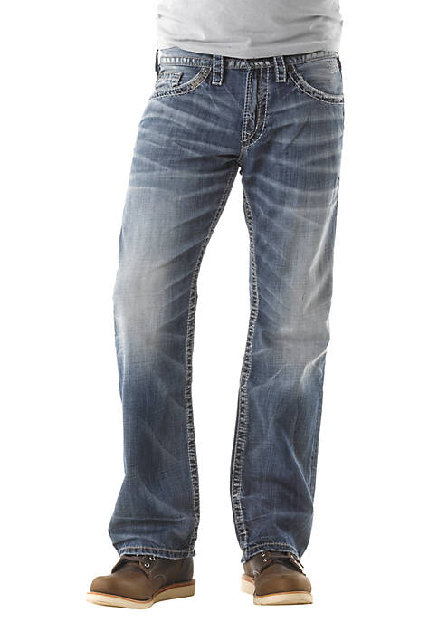 Silver Jeans Zac Relaxed Fit-Straight Leg Jean