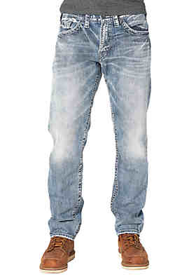 d44b6b08 Silver Jeans Eddie Light Wash Relaxed Fit Jean ...