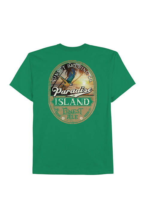 Mens Short Sleeve Paradise Ale Graphic T-Shirt