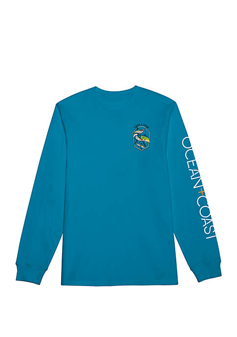 Ocean & Coast® Mens Long Sleeve Rashguard Tricast