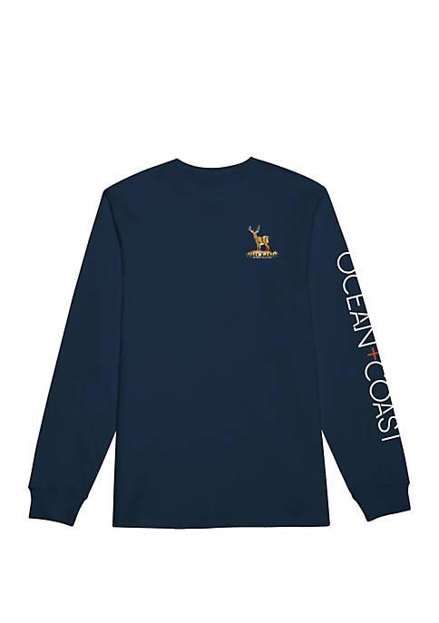 Ocean & Coast® Mens Long Sleeve Rashguard Dobby