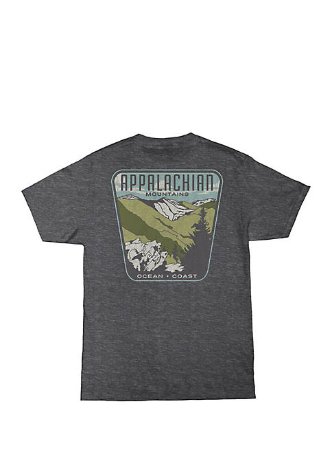 Ocean & Coast® Mens Appalachian Mountains Graphic T-Shirt