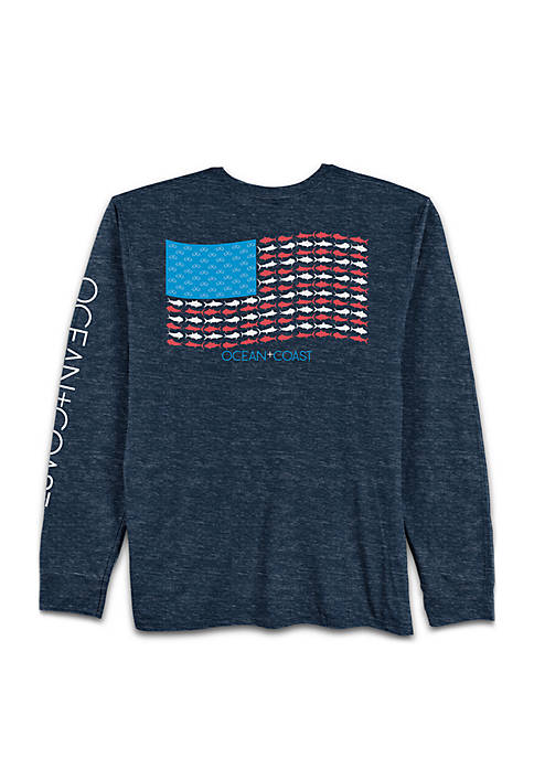 Ocean & Coast® Long Sleeve Gentry Flag Rash