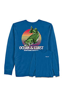 Ocean & Coast® Lovano Bass Rash Guard Fishing T Shirt