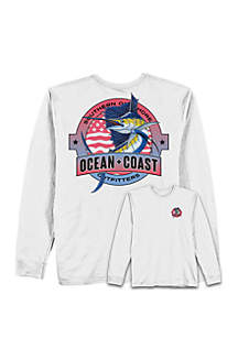 Ocean & Coast® Marlin Fishing Rash Guard T Shirt