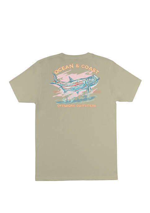 Ocean & Coast® Mens Concord Short Sleeve Graphic