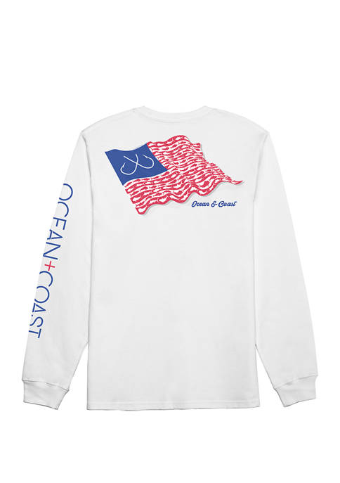 Ocean & Coast® Mens Graphic Long Sleeve T-Shirt