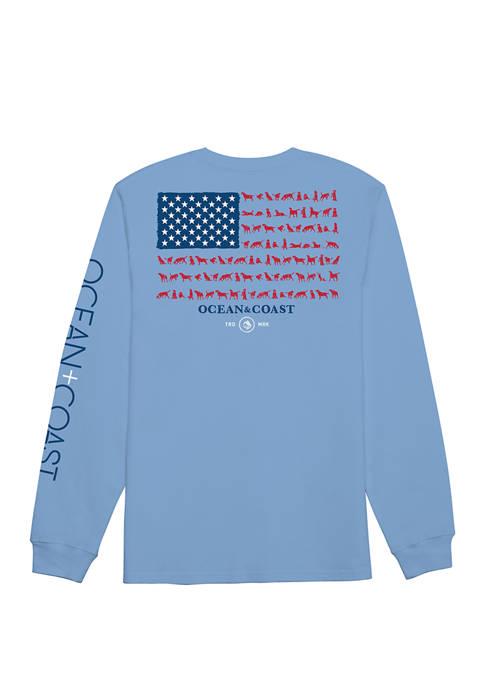 Ocean & Coast® Mens Best Long Sleeve Graphic