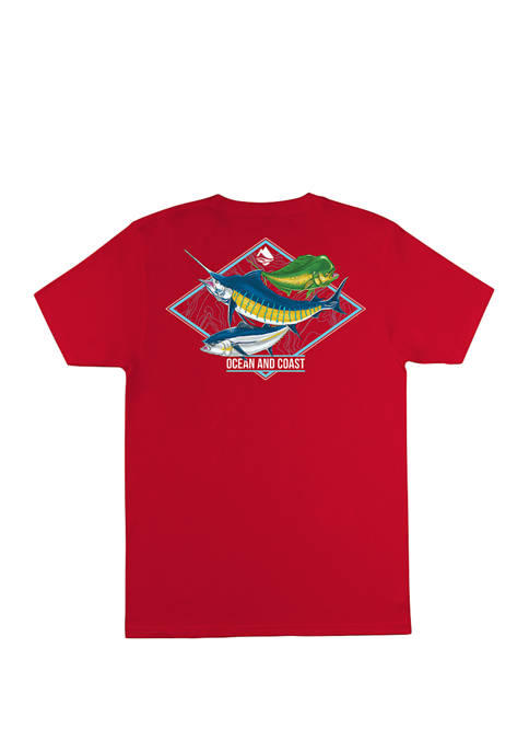 Mens Jefferies Short Sleeve Rash Guard Graphic T-shirt