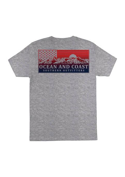 Ocean + Coast® Short Sleeve Cotton Graphic T-Shirt