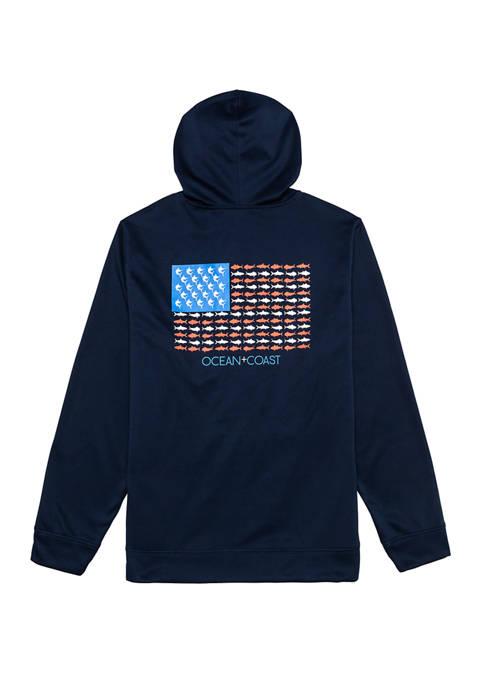 Ocean & Coast® Mens Graphic Logo Fleece Hoodie