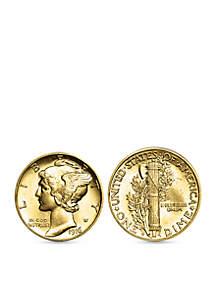 UPM Global Gold Layered Mercury Dime Cufflinks