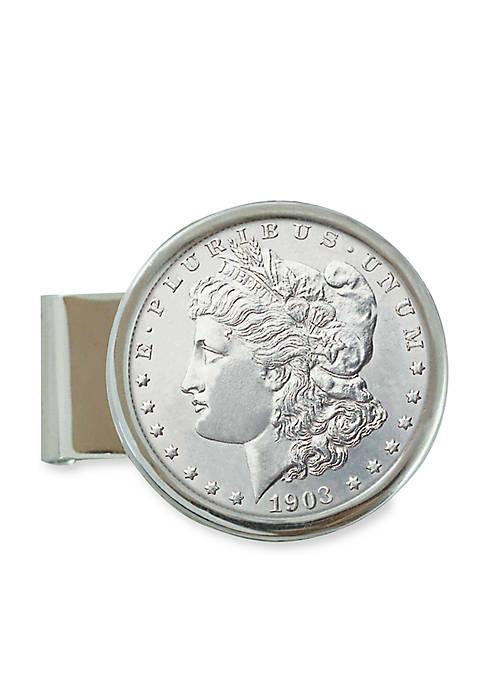 Sterling Silver Morgan Dollar Money Clip