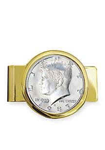 UPM Global Proof JFK Half Dollar Gold Tone Money Clip
