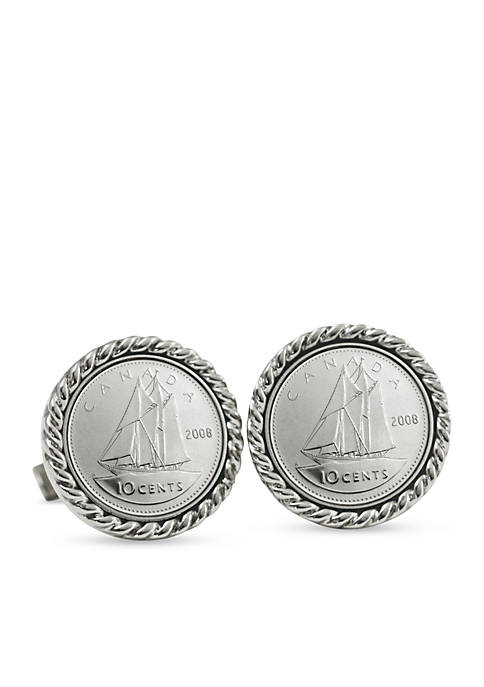 UPM Global Canada Ship Coin Cufflinks