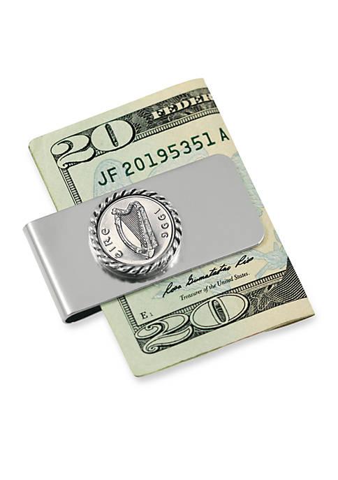 Irish Five Pence Money Clip