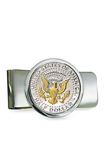 UPM Global Silver Tone Presidential Seal Selectively Gold Layered Money Clip