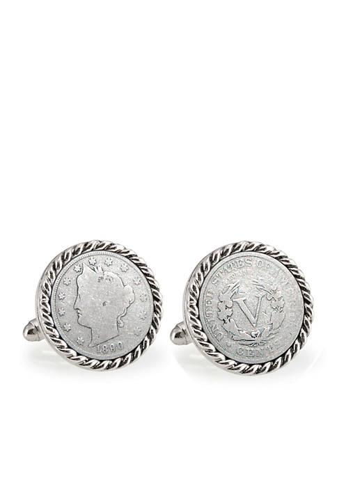 UPM Global 1800s Liberty Nickel Silver-Tone Rope Bezel
