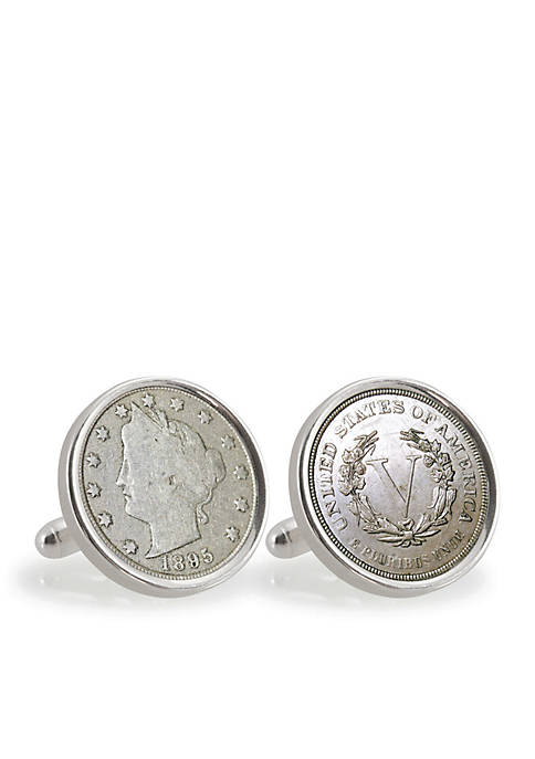 UPM Global 1800s Liberty Nickel Sterling Silver Cufflinks