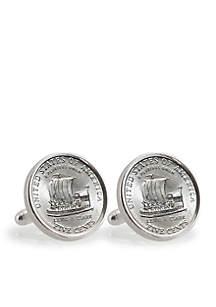 UPM Global 2004 Keelboat Sterling Silver Cufflinks