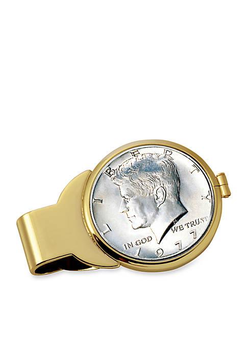 UPM Global JFK Half Dollar Gold-TOne Money Clip