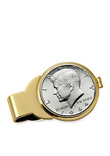 UPM Global JFK 1964 First Year of Issue Half Dollar Gold-Tone Money Clip