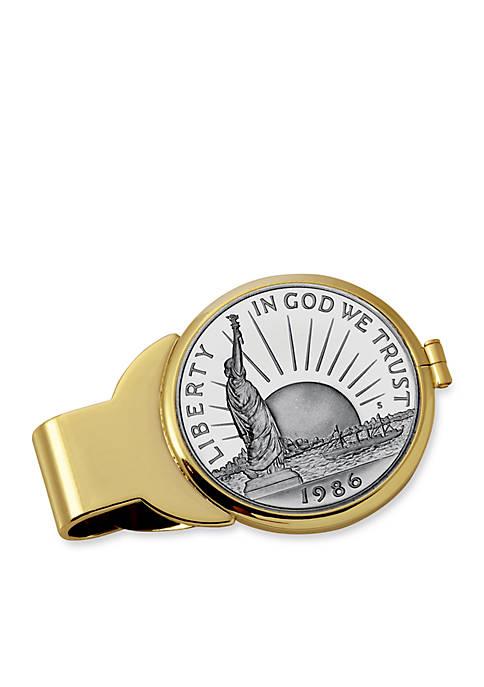 UPM Global Silver Barber Half Dollar Gold-Tone Money