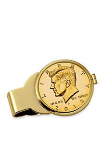 UPM Global Gold-Layered JFK Half Dollar Money Clip