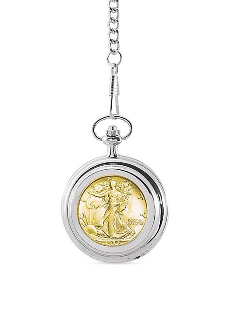UPM Global Gold-Layered Silver Walking Liberty Half Dollar