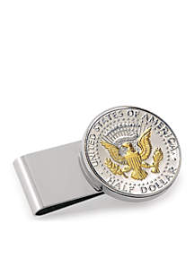 UPM Global Selectively Gold-Layered Presidential Seal Half Dollar Money Clip