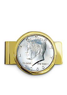 UPM Global JFK Half Dollar Gold Tone Money Clip