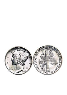 UPM Global Silver Mercury Dime Cufflinks