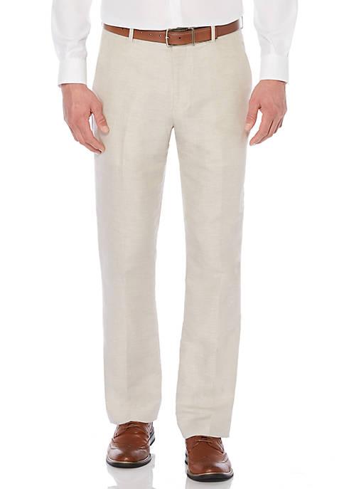 Perry Ellis® Linen Cotton Herringbone Pant